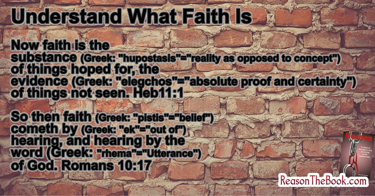 Understand what faith is